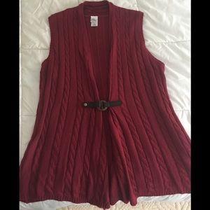 Jackets & Blazers - Burgundy Sweater Vest
